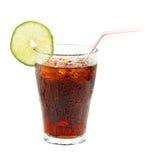 Vetro di coke Immagini Stock