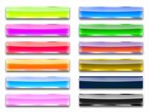 Vetro di colore dei tasti Fotografia Stock Libera da Diritti