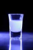 Vetro di colpo blu di Lit Fotografie Stock Libere da Diritti
