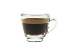 Vetro di colpo del caffè espresso immagini stock libere da diritti