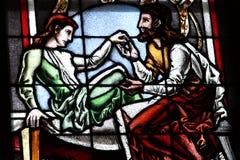 Vetro di finestra della chiesa. Cattedrale di Colonia Fotografia Stock Libera da Diritti