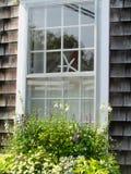Vetro di finestra di Nantucket Immagine Stock