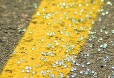 Vetro di incidente stradale Immagini Stock