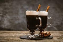Vetro di irish coffee fotografie stock libere da diritti