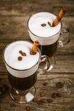 Vetro di irish coffee immagine stock libera da diritti