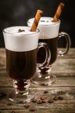 Vetro di irish coffee fotografia stock
