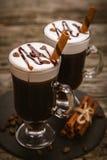 Vetro di irish coffee immagini stock