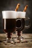 Vetro di irish coffee fotografia stock libera da diritti