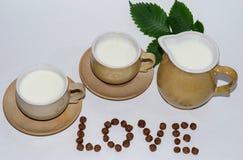 Vetro di latte immagine stock libera da diritti
