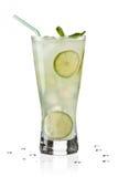 Vetro di Limeade Fotografia Stock
