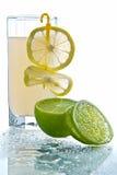 Vetro di limonata Fotografia Stock