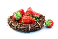 Vetro di rad dell'alimento della fragola della frutta Fotografia Stock