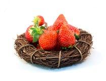 Vetro di rad dell'alimento della fragola della frutta Fotografie Stock Libere da Diritti