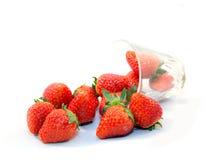 Vetro di rad dell'alimento della fragola della frutta Fotografia Stock Libera da Diritti