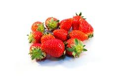 Vetro di rad dell'alimento della fragola della frutta Fotografie Stock
