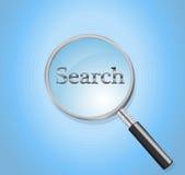 Vetro di ricerca Immagine Stock