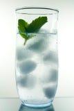 Vetro di rinfresco dell'acqua di ghiaccio fotografia stock libera da diritti