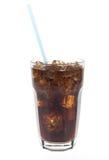 Vetro di soda con paglia Immagine Stock