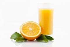 Vetro di succo d'arancia Immagini Stock