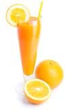 Vetro di succo d'arancia Fotografia Stock Libera da Diritti