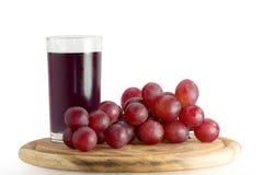 Vetro di succo d'uva Fotografie Stock Libere da Diritti