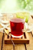 Vetro di tè di erbe Fotografie Stock Libere da Diritti
