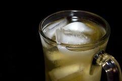 Vetro di tè verde ghiacciato Immagini Stock
