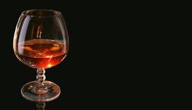 Vetro di un brandy Immagini Stock Libere da Diritti