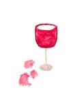 Vetro di vino Immagine Stock