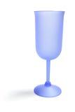 Vetro di vino blu fotografie stock libere da diritti