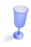 Vetro di vino blu fotografie stock