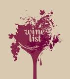 Vetro di vino con l'uva royalty illustrazione gratis