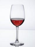 Vetro di vino con vino Fotografia Stock