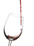 Vetro di vino con vino rosso Fotografia Stock Libera da Diritti