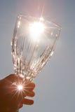 Vetro di vino del cristallo di cavo Fotografia Stock Libera da Diritti
