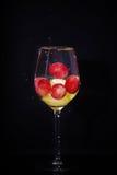 Vetro di vino dell'uva Immagine Stock