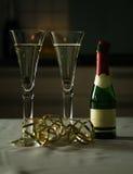 Vetro di vino e Prosecco Immagine Stock Libera da Diritti