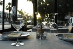 Vetro di vino operato Fotografie Stock