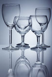 Vetro di vino puro Immagine Stock