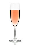 Vetro di vino rosato isolato Immagine Stock