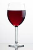 Vetro di vino rosso Fotografia Stock