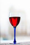 Vetro di vino rosso Immagine Stock