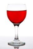 Vetro di vino rosso con la riflessione Immagine Stock Libera da Diritti