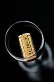Vetro di vino rosso e della bottiglia Fotografia Stock
