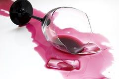 Vetro di vino rotto 2 Fotografia Stock Libera da Diritti