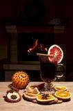 Vetro di vino sciupato Fotografia Stock Libera da Diritti