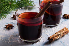 Vetro di vino sciupato Fotografia Stock