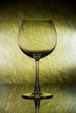 Vetro di vino vuoto - verde fotografie stock libere da diritti