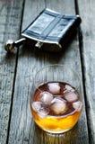 Vetro di whiskey Fotografie Stock