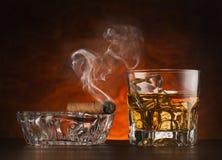 Vetro di whisky Fotografia Stock Libera da Diritti